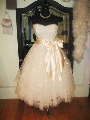 I want a big satin bow!  --  Love My Dress UK Wedding Blog - Vintage Wedding Dresses by Fur Coat No Knickers
