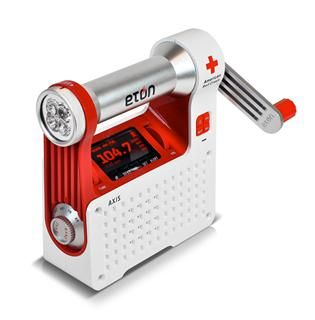 American Red Cross AXIS Self-Powered Safety Hub with AM/FM/NOAA Weather Alert and USB Cell Phone Charger. $70