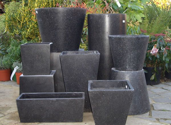 Black Garden Pots 8 best planters pottery images on pinterest herb garden planter garden planters multiple shapes and sizes workwithnaturefo