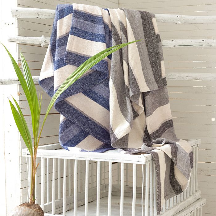 You'll love the Montego Stripe Chenille Cotton Throw Blanket at AllModern - With Great Deals on modern Bedroom  products and Free Shipping on most stuff, even the big stuff.