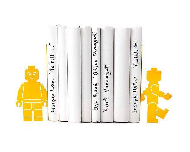 Ornaments – Metal Bookends Lego Men – a unique product by Design_Atelier_Article…