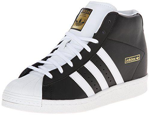 adidas Originals Women\u0027s Superstar Up W Shoe, Black/White/Gold, 8 M