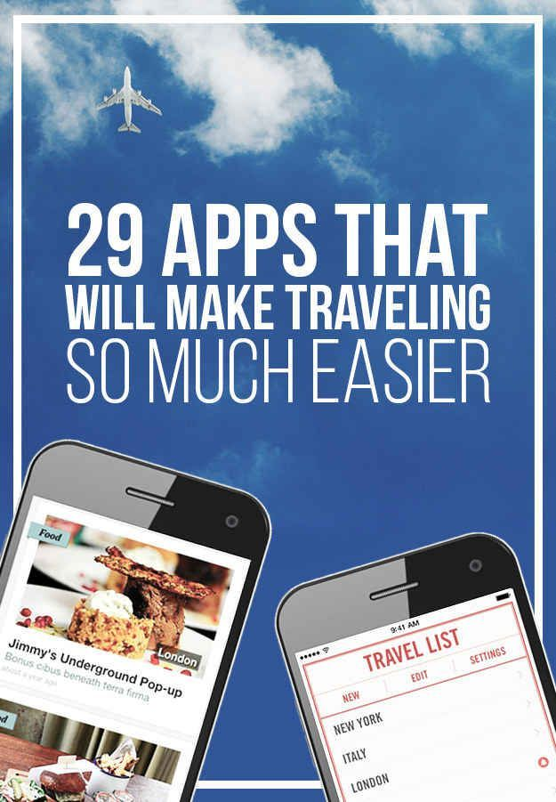 29 Apps That Will Make Traveling So Much Easier Save money on travel, traveling, #travel #SaveMoney