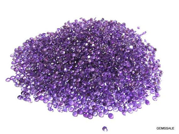 10 piece 3mm purple amethyst round faceted wholesale gemstone