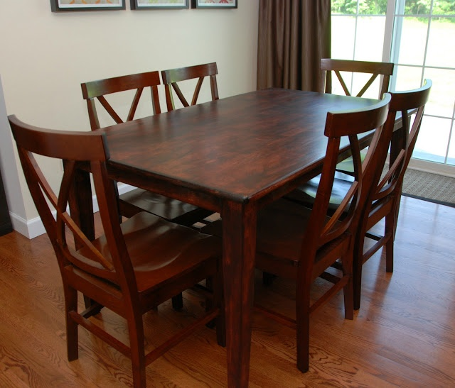 Refinish Kitchen Table: Refinished Kitchen Table