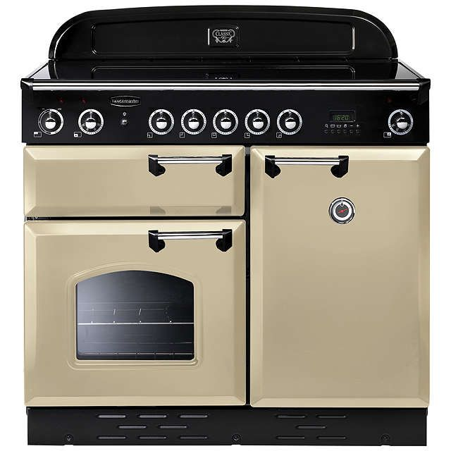 BuyRangemaster Classic 100 Induction Hob Range Cooker, Cream/Chrome Trim Online at johnlewis.com