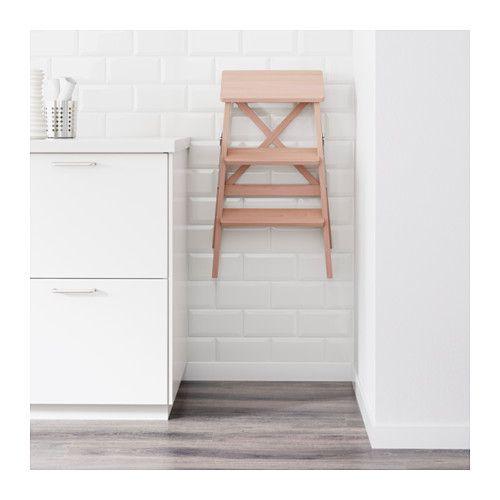 IKEA BEKVÄM stepladder, 3 steps Can be folded to save space.
