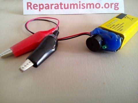 COMPROBADOR CONTINUIDAD CASERO SENCILLO  CON ZUMBADOR - material reciclado. - YouTube