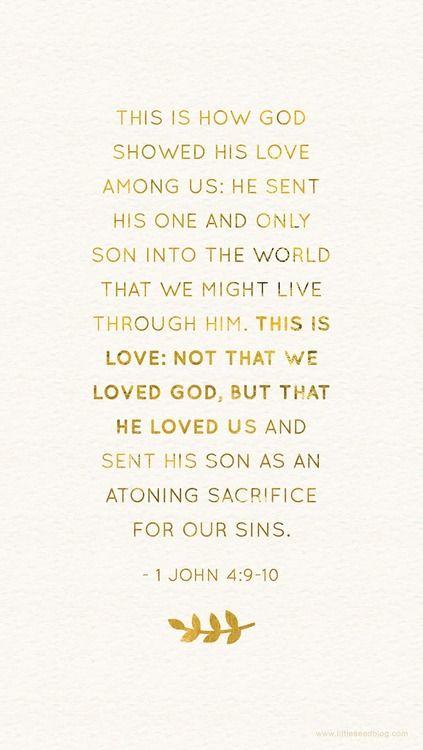 Wow! God is love.