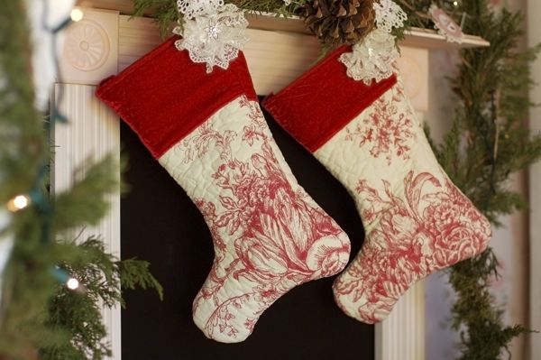 Stockings from a Christmas Cottage Party #christmas #stockings
