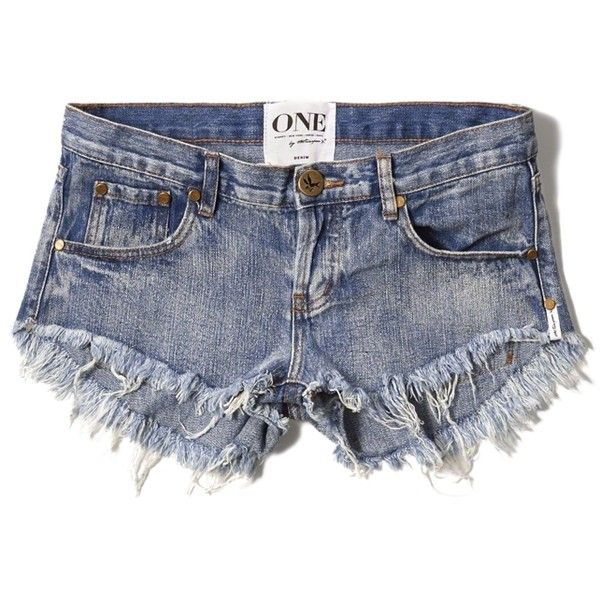 Abercrombie & Fitch One Teaspoon Bonitas Shorts ($75) ❤ liked on Polyvore featuring shorts, bottoms, medium wash, torn shorts, loose fit shorts, destroyed shorts, low rise shorts and distressed shorts