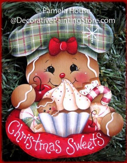 The Decorative Painting Store: Gingers Christmas Sweets Pattern by Pamela House