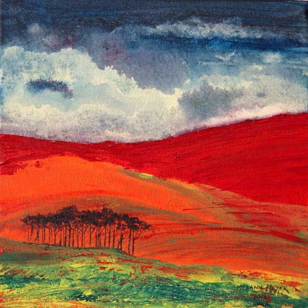 """Autumn Hills 04"" by Melanie Meyer from her Emergence Art Gallery in Cape Town"