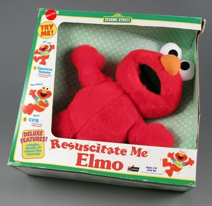Check out the new Resuscitate Me Elmo Doll