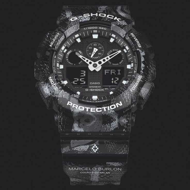 "G-SHOCK  MARCELO BURLON  ビッグメゾンをはじめ様々なブランドディレクションに携わり世界的セレブやアーティストが愛してやまないブランドMarcelo Burlon County of MilanとG-SHOCKのコラボレーションモデルが登場ブランドを代表するスネーク柄を身にまとい精悍なブラッグのGA-100をベースにモノトーンで仕上げた今作ラグジュアリーストリートを具現化したスペシャルコラボレーションモデルの登場です  G-SHOCK joins forces with ""Marcelo Burlon County of Milan"" to produce a new collaboration model this time on a global scale with the special limited edition GA-100. Drawing iconographic elements from patagonia and taking inspiration from local flora and fauna coral snakes…"