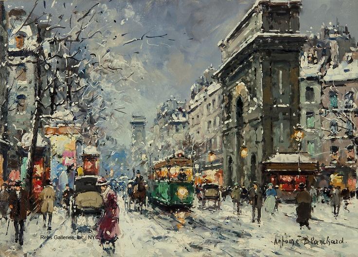 Porte St. Martin and St. Denis, Winter