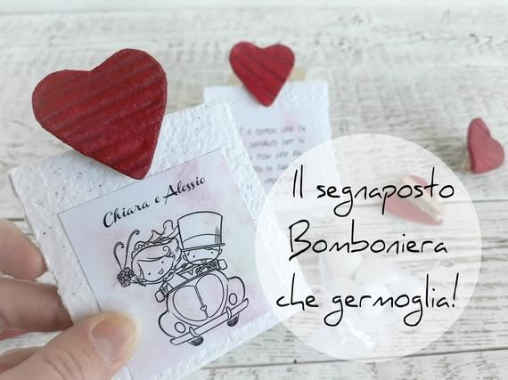 Segnaposto Matrimonio Semi Fiori.Favors For Planting Wedding Favors Placemats Heart Favors Wedding