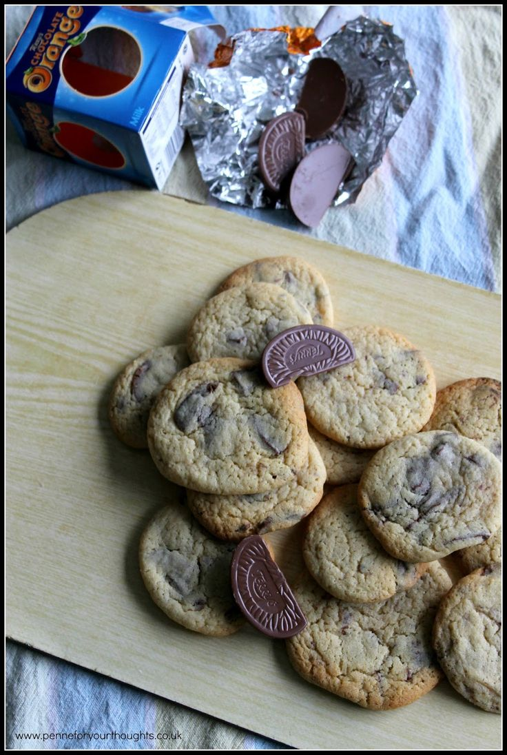 Terry's Chocolate Orange Cookies - adding to the neighbour cookie repertoire!