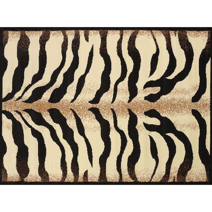 United Weavers Legends Stripe Zebra Print Rug - 5'3'' x 7'2'', Multicolor