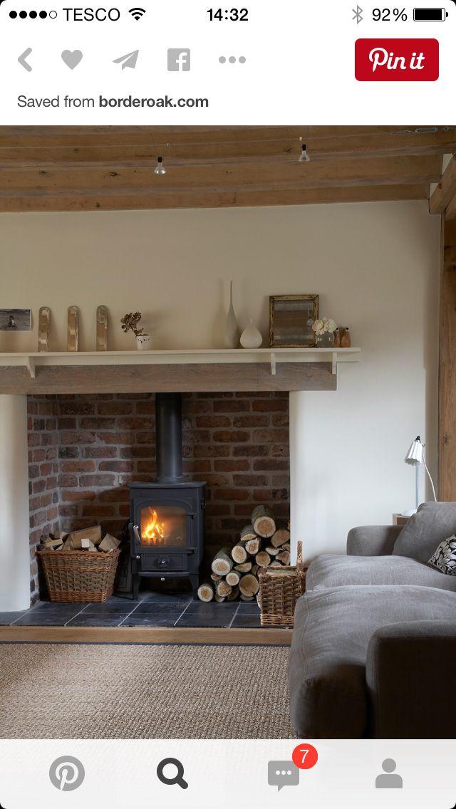 Shelf above lintle