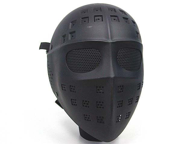 Heißer Verkauf Taktische Full Face Hockey Typ Airsoft Mesh Goggle Maske Schwarz