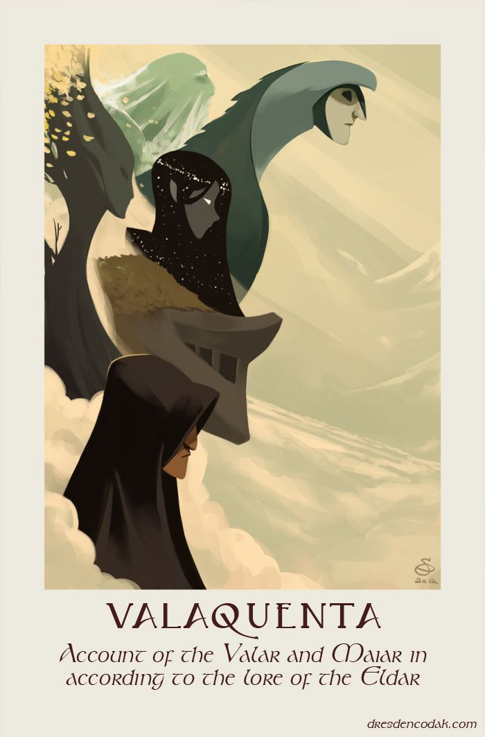 Valaquenta - Account of the Valar and Maiar in according to the lore of the Eldar