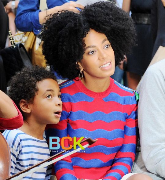 Solange Knowles and Her Son | Singer/DJ Solange Knowles and her son Daniel Julez Smith, Jr. were ...