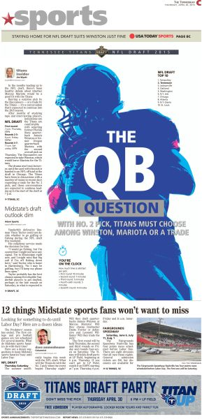 The QB Question #Newspaper #Design #Layout #GraphicDesign