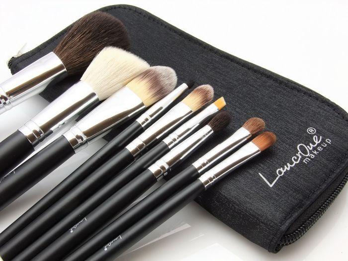 Pędzle do makijażu- zestaw 9 sztuk - [Lancrone] - F.H.U K&M Pędzle do