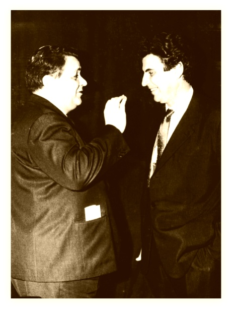 Manos_Hadjidakis_Mikis_Theodorakis the two greatest greek composers, conductors, songwriters who open new roads to greek music
