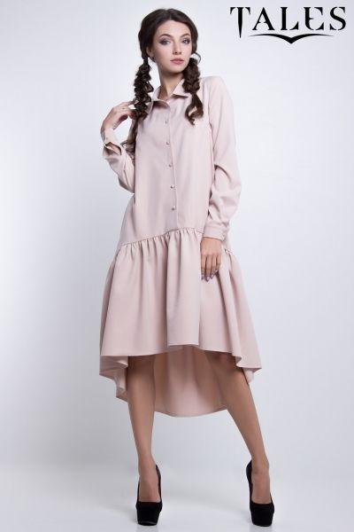5ffede6bcaabbe5 Платье-трапеция Tetra Бежевый в интернет магазине Sosiska #сукня  #платьякиев #платьяхарькв #