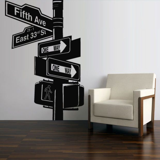 Wall Decal Mural Sticker Decor Art Bedroom Road Sign New ...