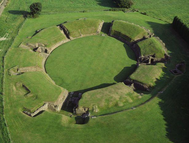 Roman amphitheatre in Caerleon, Wales