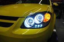BLACK 05-10 CHEVY COBALT PONTIAC G5 HALO PROJECTOR LED HEADLIGHTS LEFT+RIGHT over 500+ order history,free ship,hasstle free return