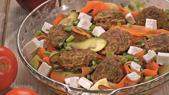 Оладьи из зеленого горошка с овощами и фетой. Пошаговый рецепт с фото на Gastronom.ru