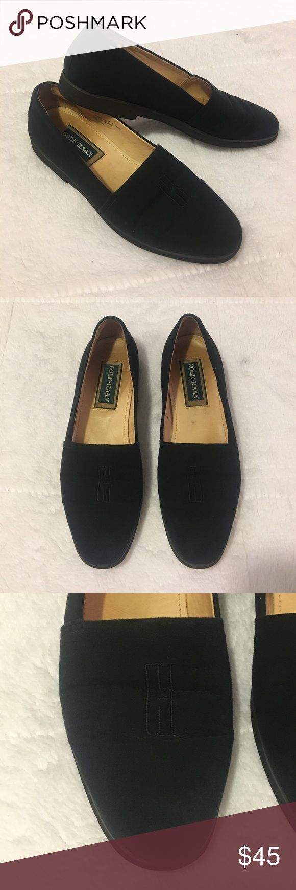 🔥SALE🔥 Cole Haan Slip On Flats Loafers Size 7N Cole Haan Black Slip On Flats. Women's Loafers Size 7N Shoes. Lightly Worn With Normal Wear And Tear(Creasing). Over All Great Pre Owned Condition. Cole Haan Shoes