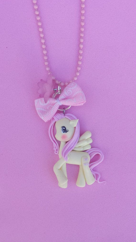 My Little Pony Fluttershy Necklacepolymer clay fimo by Artmary2, €12.00