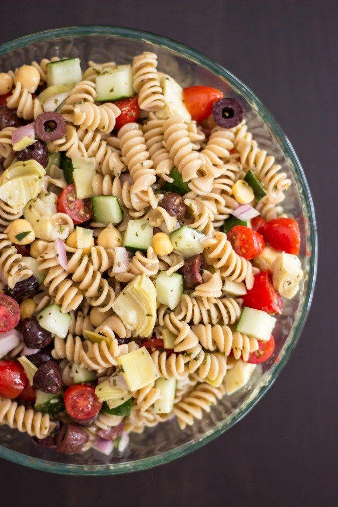 Mediterranean Pasta Salad   Handful of Raspberries