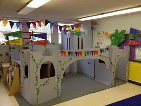 Awesome idea for fairytales week. Make a life size castle.