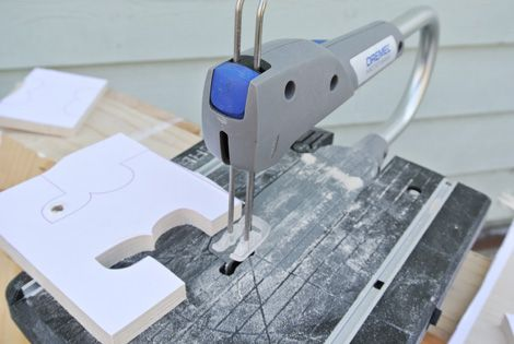 Dremel Moto Saw for cutting out letters