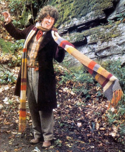 Doctor Who Scarf Knitting/Crochet Pattern... Follow this tutorial to recreate Tom Baker's original scarf. (The fourth Doctor in the Doctor Who series)
