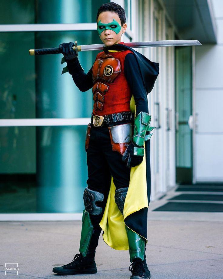 Jack (@galacticspidey) as Damian Wayne Robin | Robin ...  Damian Wayne Robin Costume
