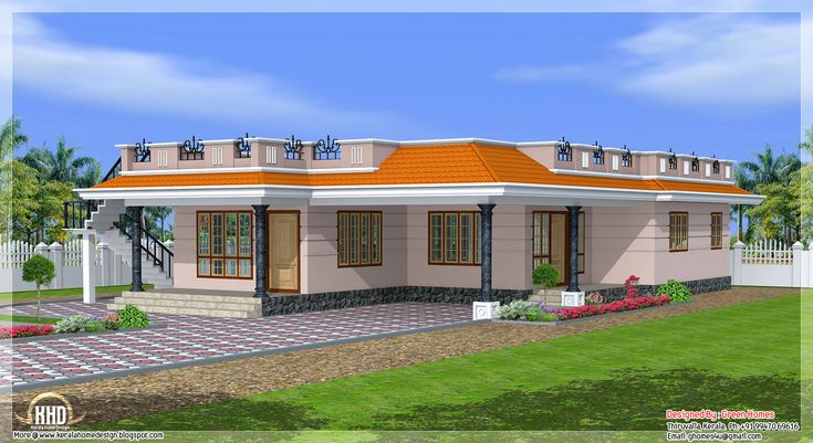 Kerala style single storey 1800 sqfeet home design home