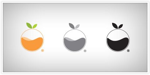 logo de 'orange juice studios', una compañía de desarrollo ios. creado por faren gambrill.