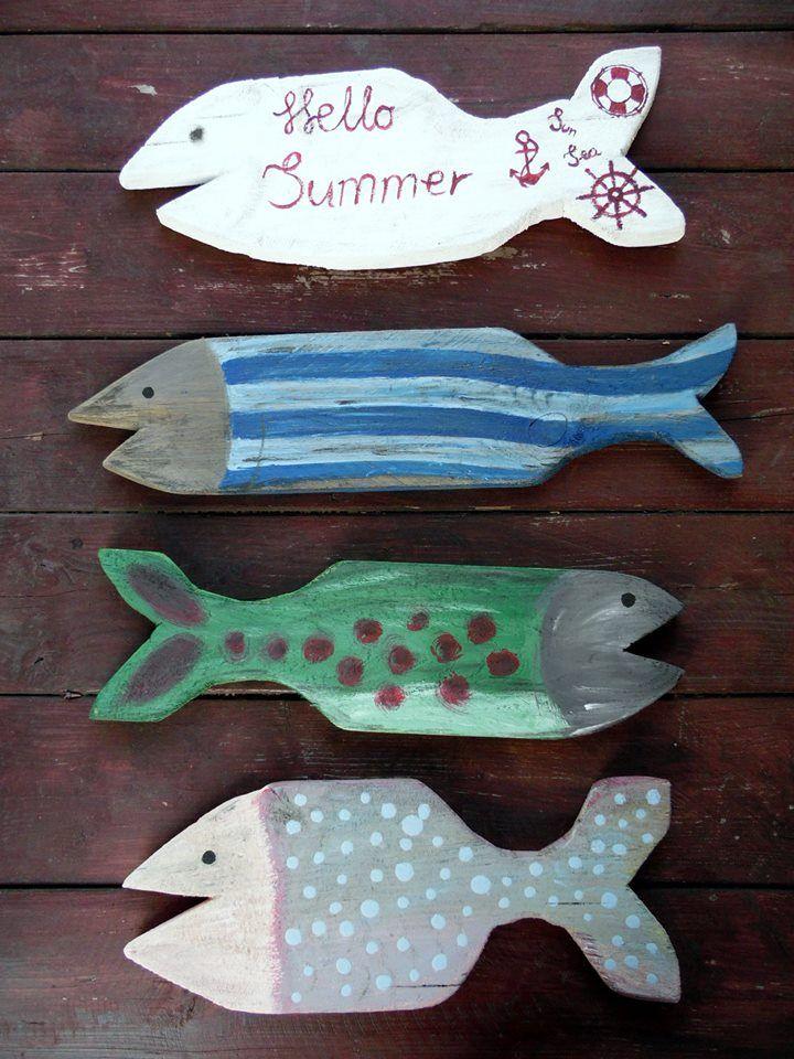 Deszka! Halak! Festés! Dekoráció! Summer, pallet, fishes, painting!