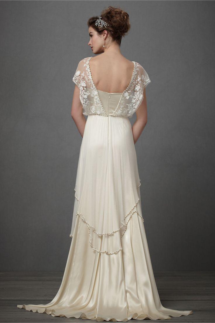 Edwardian inspired dress with wildflower crown