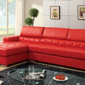 Red Sectional Sofa Leather