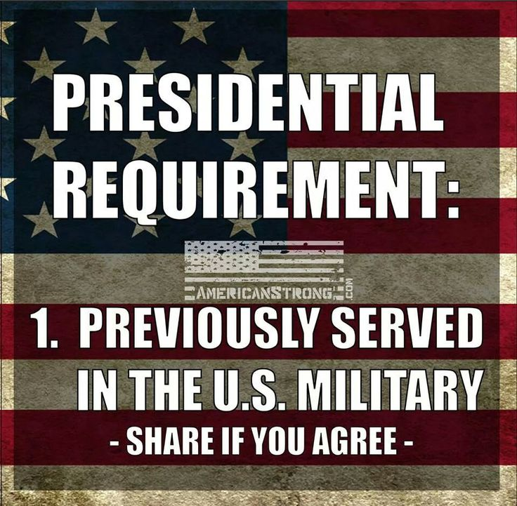 Presidential Requirement: Previously served in the U.S. Military