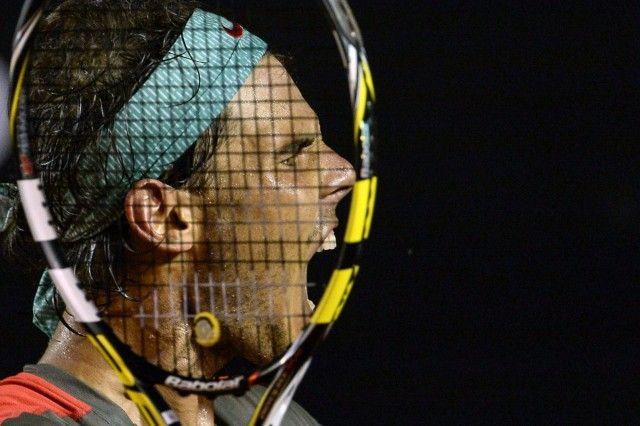 TENNIS-ATP-RIO OPEN-NADAL Rio de Janeiro / Brasilia - 23.02.2014 Rafael Nadal of Spain celebrates after winning the 2014 Rio Open men's semi-final singles tennis match against Pablo Andujar of Spain by a tie-break (12-10) in Rio de Janeiro, Brazil, on Februrary 22, 2014.   Copyright: AFP / Lehtikuva Lähde: AFP Kuvaaja: Yasuyoshi Chiba