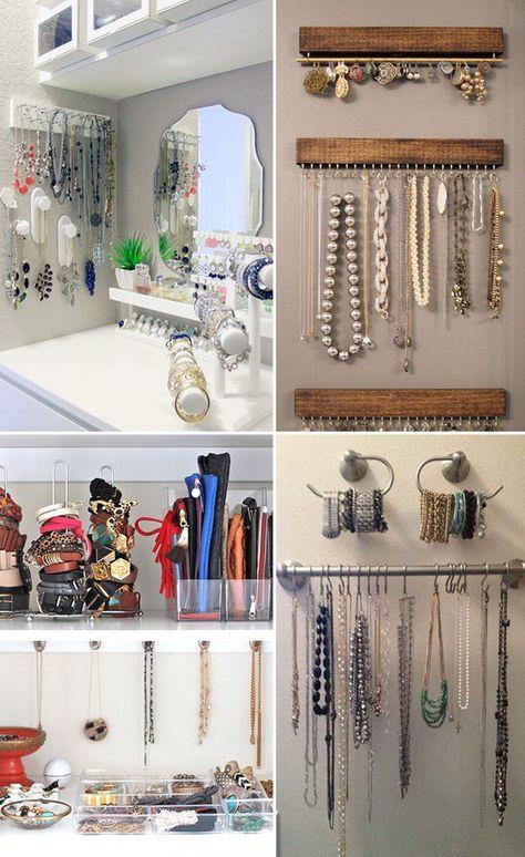 Organização de acessórios: bolsas, cintos, óculos, colares e muito mais!